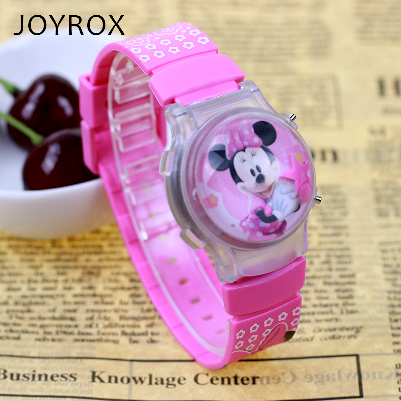 JOYROX Electronic Children Sports Watch 3D Jelly Clamshell Silicone Digital Armbandsur Nya Cartoon LED Girls Boy Kids Clock present