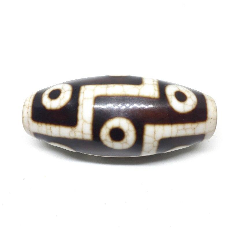 Natural Agate 22mm 50mm Dragon Vein 9 Eyes Pattern Amulet Tibetan Dzi Beads for Bracelet DIY