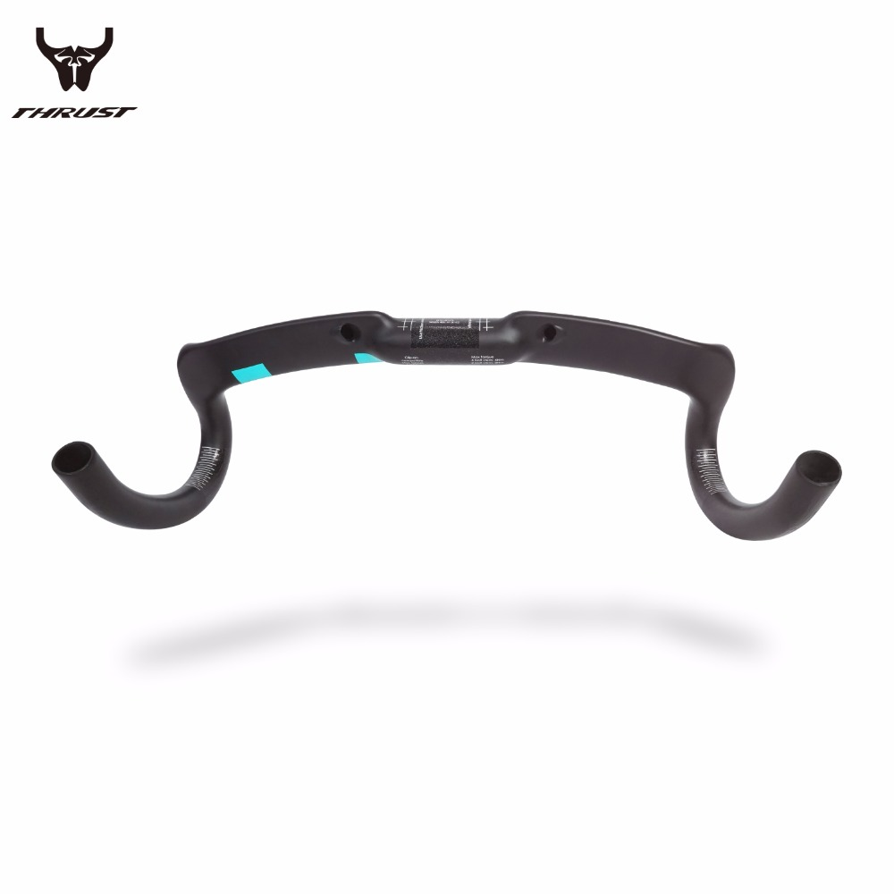 2017 Thrust high-grade carbon fiber bike blue handle bar road bike carbon handlebar size 400MM/420MM/440MM carbon drop handle bars road bike handlebar matt or gloss black 31 8 420mm