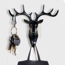 Маленькая пластиковая настенная стойка для гостиной, сумка для шляп, ключевые ювелирные изделия, стойка для украшения головы оленя, органайзер на крючок
