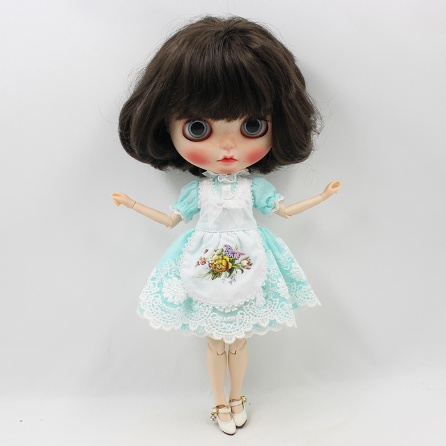 Blyth Doll Clothes ICY Licca 1/6 Body Lolita Dress Blue Pink Lace Free Shipping