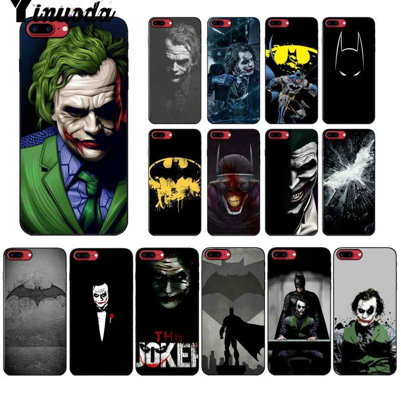 Yinuoda DC Comics Batman Joker Harley Custom Photo โทรศัพท์กรณีสำหรับ iPhone X XS MAX 6 6 S 7 7 plus 8 8 Plus 5 5 S XR