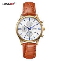 2016 Casual Men Watch Gold Plated Famous Brand Luxury Leather Strap Waterproof Quartz Wrist Watch Women