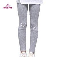 Baby Girl Casual Full Length Leggings 2017 Spring Autumn Cotton Cartoon Cat Children Pants 4 6