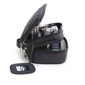 Brand organizer cosmetic bag double waterproof Makeup bag travel organizer cosmetologist case multi-function storage bag QE128 6