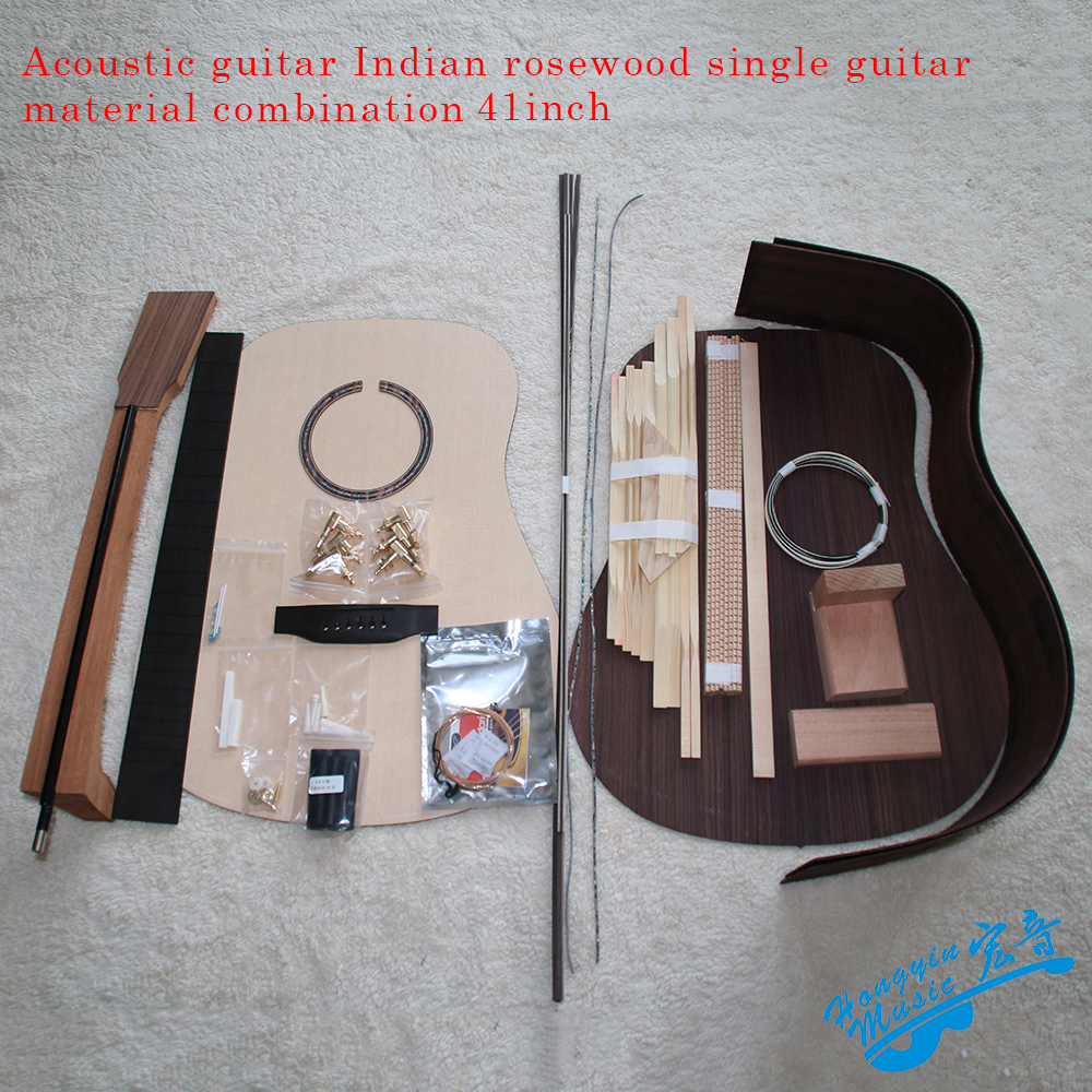 41inch OM D-Type Rounded Corner Acoustic Guitar DIY Kit African Mahogany Okoume Neck Rosewood Back Side Ebony Fingerboard diy electric guitar kit unique body rosewood fingerboard neck for lp guitar body african mahogany with a 15 mm of american har