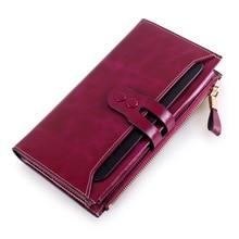 2016 neue Ankunft Frauen Brieftaschen Aus Echtem Leder Hohe Qualität Lange Design Kupplung Rindledermappe Hochwertige Mode Weibliche Handtasche