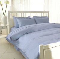 100 Egyptian Cotton 1200 TC Bedding Set White Color Fitted Sheet 2 Meter King Size 4