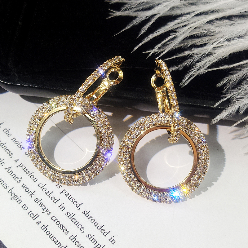 HTB10SwCXfvsK1Rjy0Fiq6zwtXXaq - NEW 925 silver needle rhinestone circle crystal from Swarovskis earrings temperament Korean personality wild Mother's Day gift