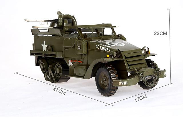 1 pcs 18.5 polegadas feitas à mão meta Clássico Nostálgico Veículos Militares Modelo figura para coleção deck.