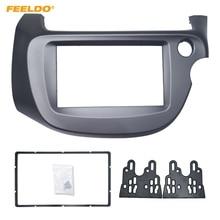 FEELDO автомобиль 2DIN Аудио Радио панель Фризовая рамка для Honda FIT Jazz (RHD) 2013-2008 стерео CD/DVD фронтальная рамка Комплект # AM4395