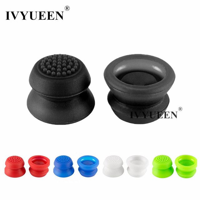 IVYUEEN 2 pcs Silicone Analog Grip Thumbstick Thumb Sticks Extra Cover High Enhancements For Dualshock 4 PS4 Pro Slim Controller