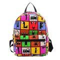 22 diseño 2015 mujeres calientes de las hojas de impresión mochilas mochila mochila de lona de moda retro bolsas escuela casual bolsas de viaje 96