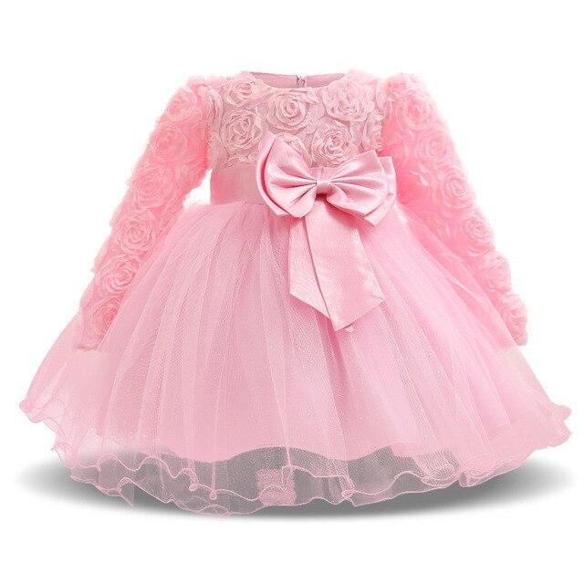 77b05b6b3c 2018 Verão 1 ano de aniversário vestido de festa para meninas vestido Da  Menina de Flor