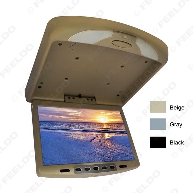 """3-Color 12 """"Carro/Ônibus Telhado Montado Monitor de TFT LCD Flip Down Monitor de Entrada de Vídeo 2-Way 12 V # FD-1287"""