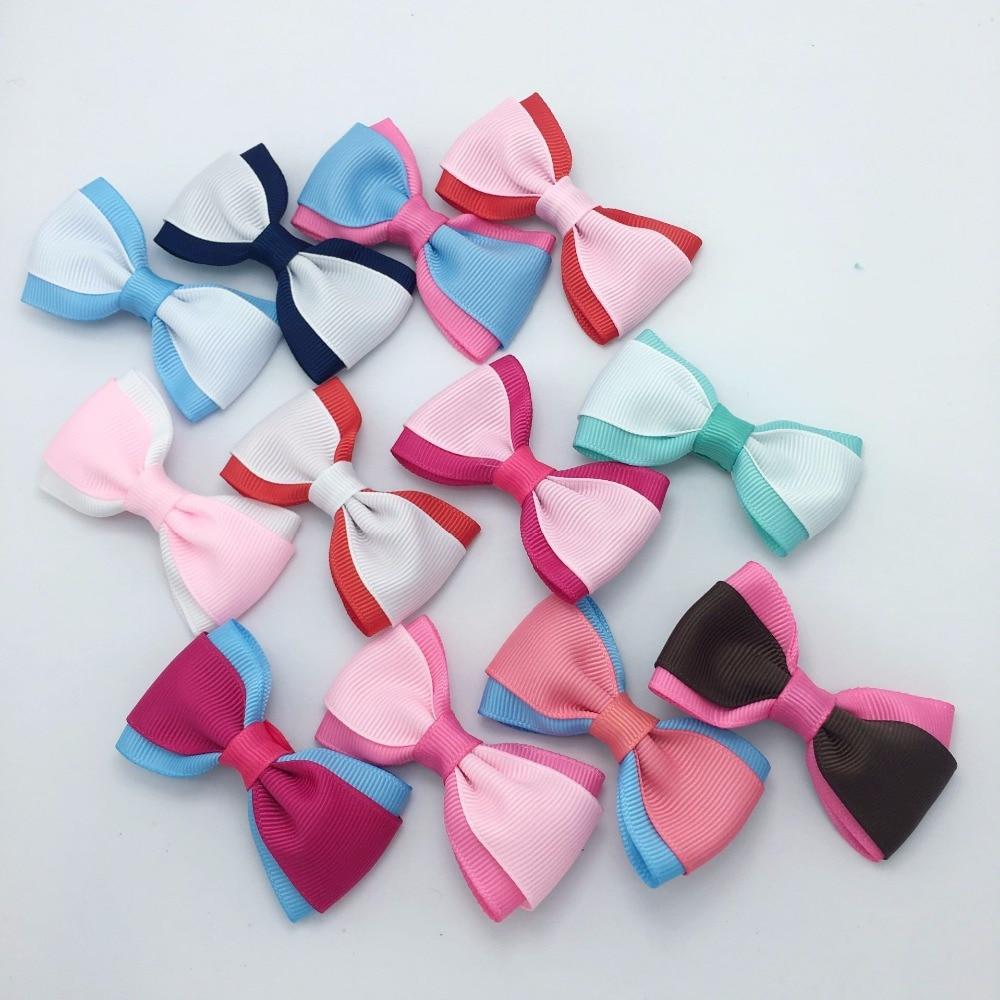 20 Pcs/lot Dog 2.75 Inch Boutique Grosgrain infant Hair Bow  set Clip hair bows for girls Accessories Headwear