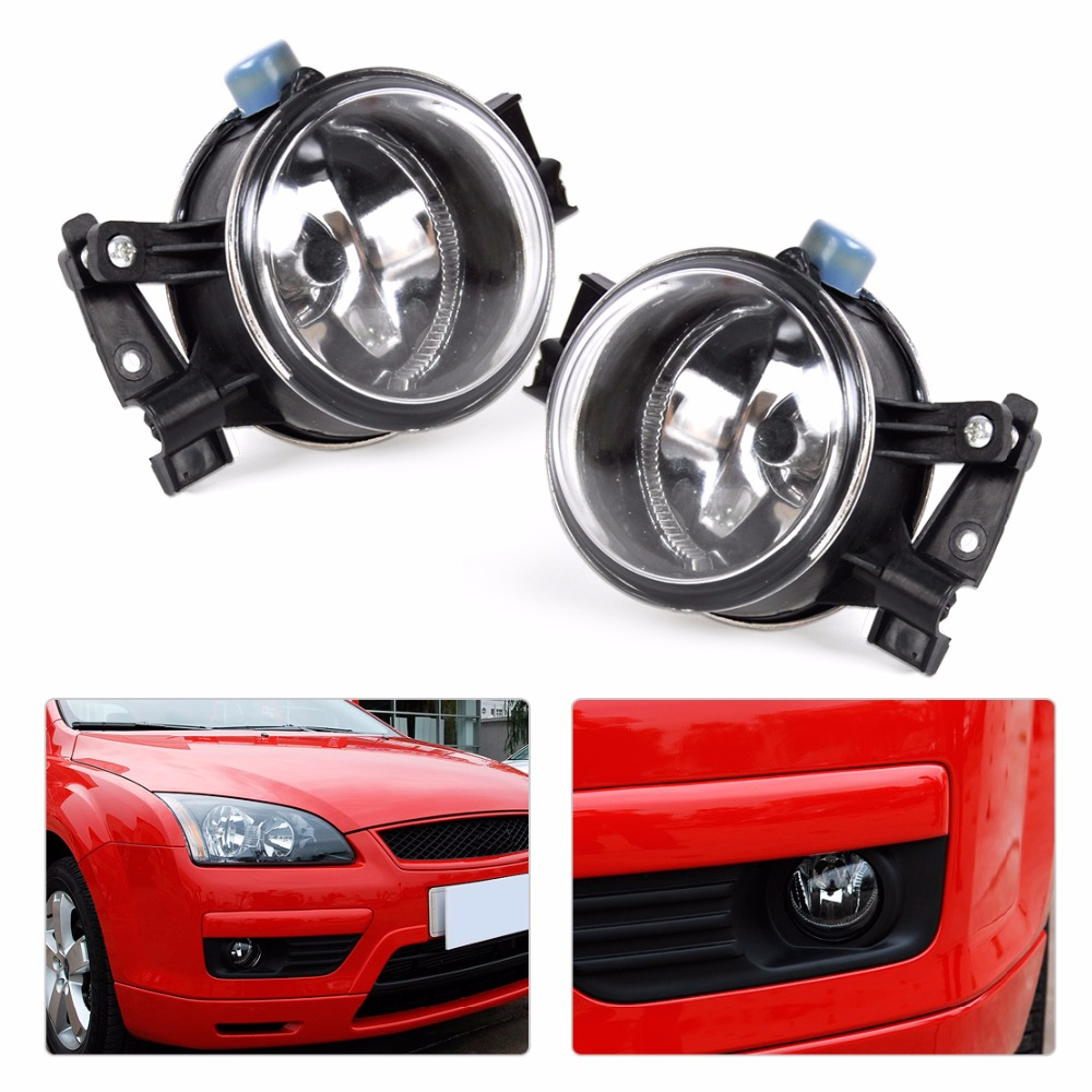 DWCX 3M51-15K201-AA  3M51-15K202-AA 2pcs Front Left + Right Fog Lights Lamp For Ford Focus 2005 2006 2007 2pcs left