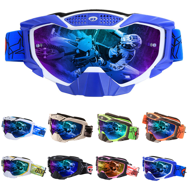 1e9afbf5019 Motocross Goggles Glasses Moto Men Women Motorcycle Goggles Glasses Helmet  Off-Road Motocross Goggles ATV MX BMX DH MTB Eyewear