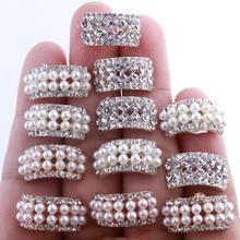 10 шт 10*20 мм шикарная форма арки кристалл горный хрусталь пуговицы для свадебного украшения круглые жемчужные пуговицы украшения