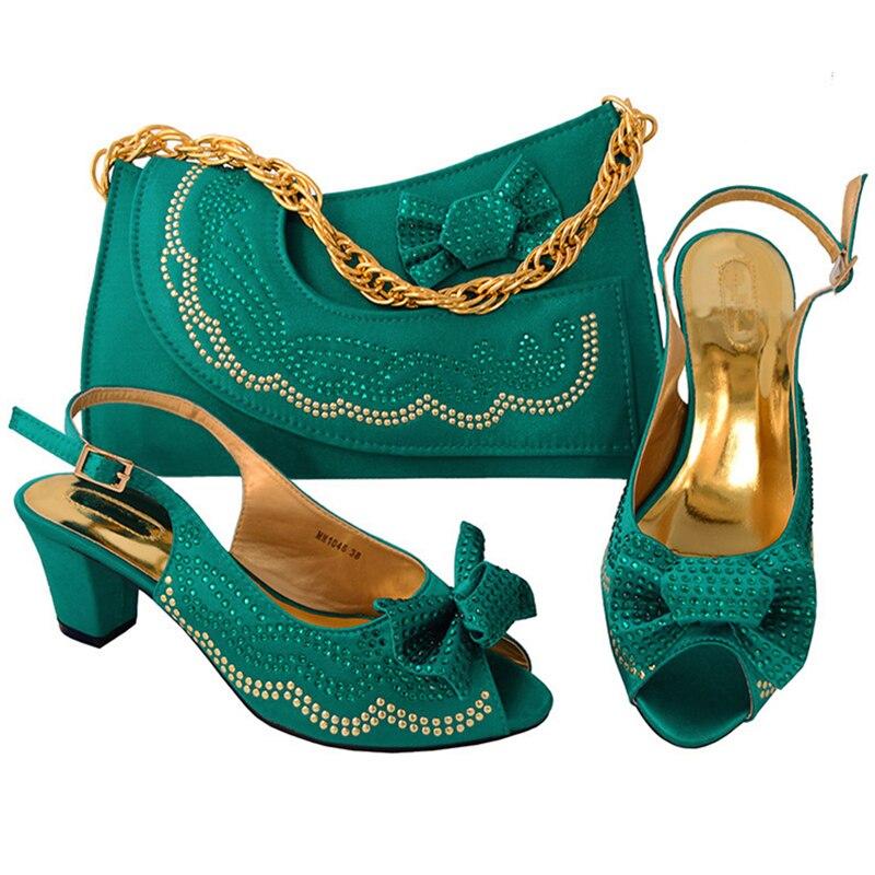 Africaine Dans Sacs À Avec Femmes Chaussures Bleu Vert yellow pourpre De rouge teal Pour vert Italien argent Ensemble Couleur Dernières Correspondre Correspondant Et Pierre q7Ex8wY