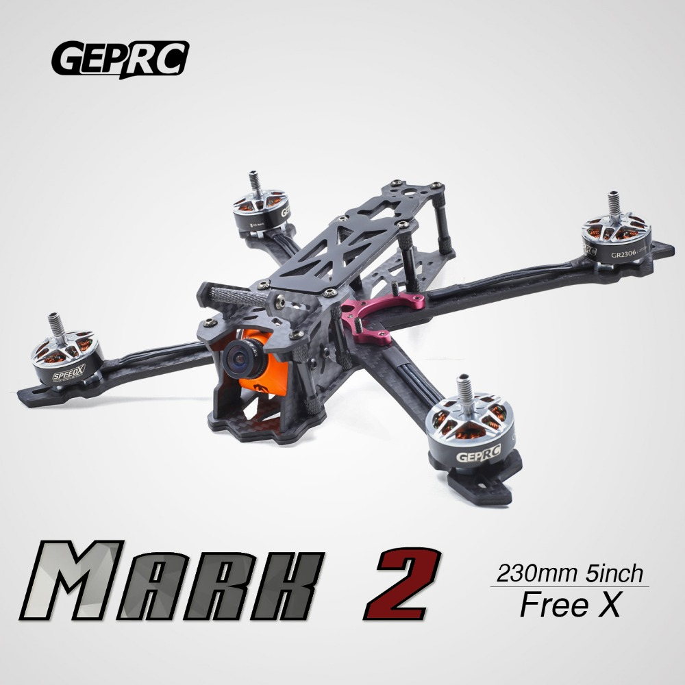 GEPRC Mark2 Mark 200mm 230mm 260mm 300mm FPV Racing Drone Frame Freestyle X Quadcopter 4mm Arm GEP 4 5 6 7 RC drone geprc diy fpv mini drone gep bx5 flyshark quadcopter 3k pure carbon fiber frame for the racing 4 5 6 4mm main arm plate