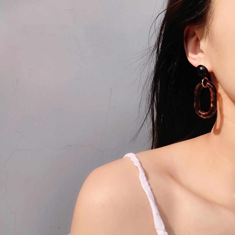 Fashion ZA Resin Drop Earring For Women Wedding Jewelry Boho Elegant Shiny Dangle Statement Women Earrings Christmas Gifts