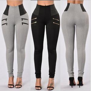 Image 3 - Mallas S XXL de cintura alta para Mujer, Leggings elásticos negros, Sexy, ajustados, informales, talla grande