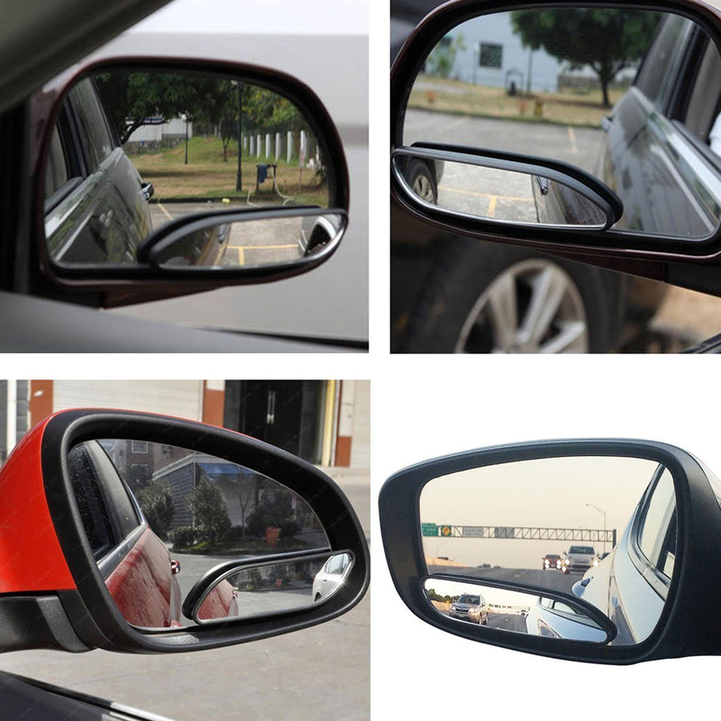 1 Pair RearView Car Mirror Adjustable Wide Angle View Blind Spot Exterior Mirror