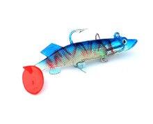 HOT mixed colors 14cm 33g Sardines lead fishing lure 3D eyes soft lure hook shape sardine fishing lure