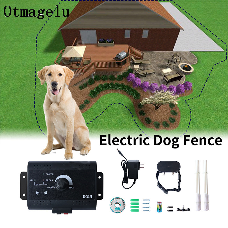 023 Safety Pet Dog Electric Fence With Waterproof Dog Electronic Training Collar Buried Electric Dog Fence