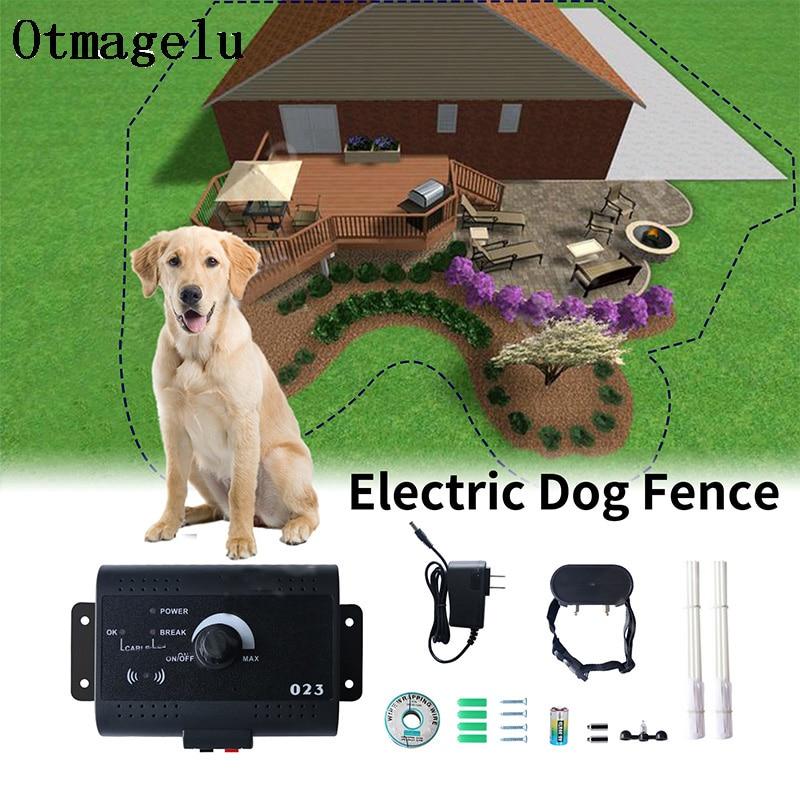 023 Электрический забор для домашних питомцев с водонепроницаемым электронным ошейником