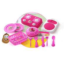 10sets/lot Pink Kitchen Food Cooking Role Play Pretend Toy Girls Baby Child,baby kid plastic kitchen toys play kitchen Xmas Gift