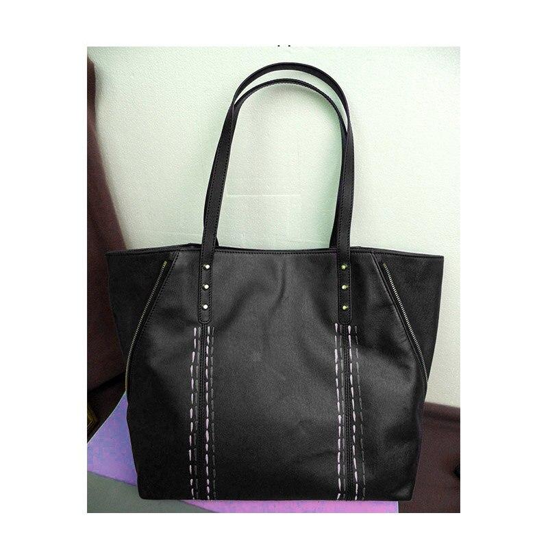 301c5f42c7 Women Casual Tote Genuine Leather Handbag Bag Fashion Vintage Large  Shopping Bag Designer Crossbody Bags Big Shoulder Bag Female
