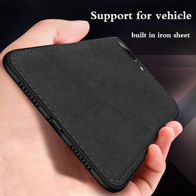Sang trọng Từ Vải Ốp Lưng Vải Dành Cho iPhone XS Max XR X 7 8 Plus 6 6 S Siêu mỏng vải Họa Tiết Mềm Dẻo Silicone Ốp Điện Thoại Da