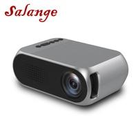 Salange YG320 мини портативный проектор с ЖК-дисплеем домашний кинотеатр USB SD AV HDMI 400 люмен 1080 P HD переносной Led-прожектор