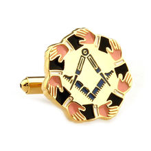 Мужские украшения золотые Масонские Запонки высококачественные