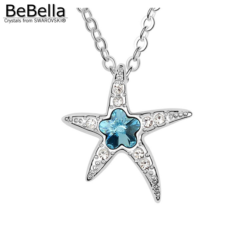 Bebella starfish pendant necklace made with austrian crystals from bebella starfish pendant necklace made with austrian crystals from swarovski for women gift in pendant necklaces from jewelry accessories on aloadofball Gallery