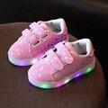 Дети света до shoes малышей Мальчики Девочки LED Light UP Shoes Children's Casual Canvas Shoes Блестящий Звезды Моды Светящиеся кроссовки