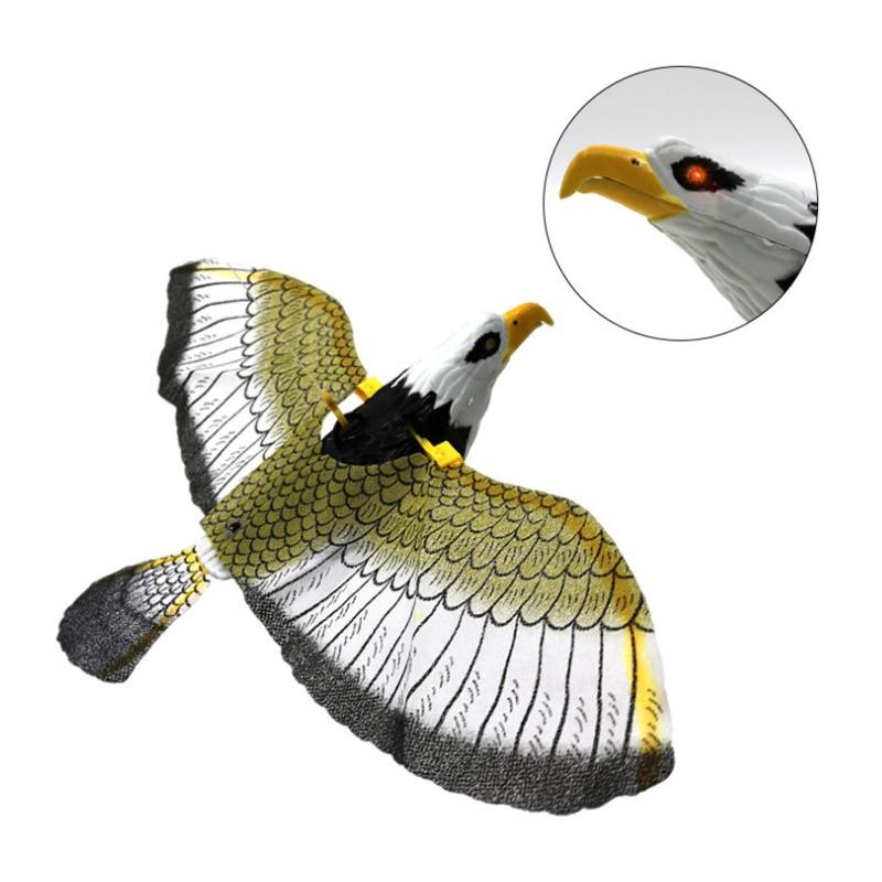 Funny Toys Big Electric Eagle Flying Bird LED Light Eye Glowing Sound Bird Hawk Toys Kids Educational Toys Gift