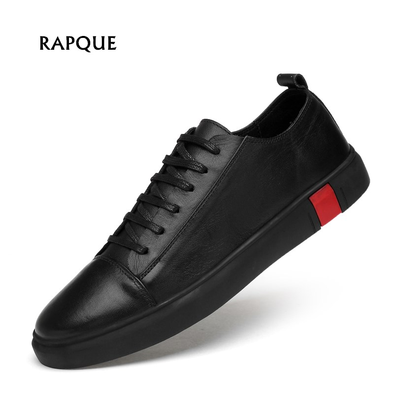Men Shoes Leather Zoom Blazer Low Shoes Casual Sneakers Lightweight Shoes Flats Fashion Male Driving Shoes Lace-up Plus Size 47