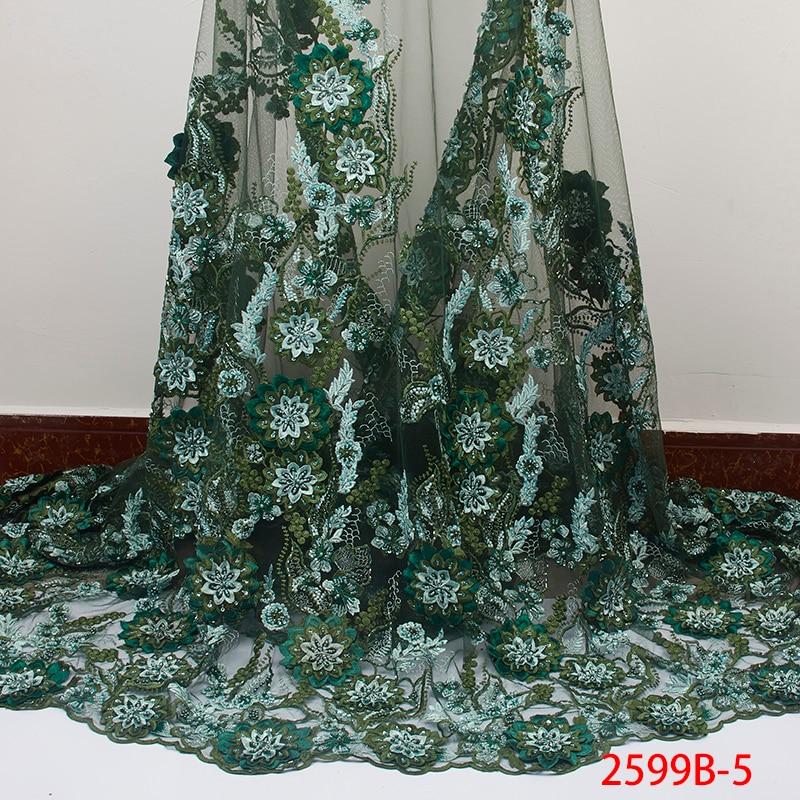 الأزياء الفاخرة اليدوية الخرز الدانتيل 2019 أحدث الليمون الأخضر تول الدانتيل النسيج مع الخرز الأفريقي النيجيري الدانتيل النسيج APW2599B-في دانتيل من المنزل والحديقة على  مجموعة 1