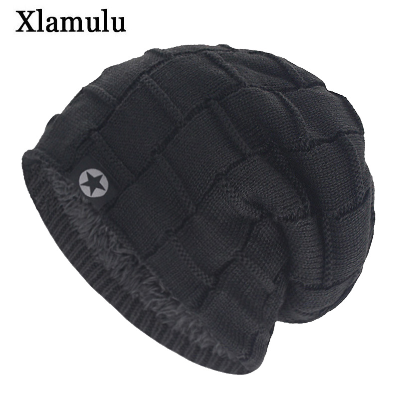 Xlamulu High Quality Skullies Beanies Wool Knitted Hats Women Winter Hats For Men Hat Male Caps Gorro Bonnet Female Beanie Caps