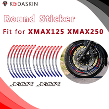 KODASKIN Motorcycle 2D Emblem Round Sticker Decal Big Wheel Rim for XMAX 125 250