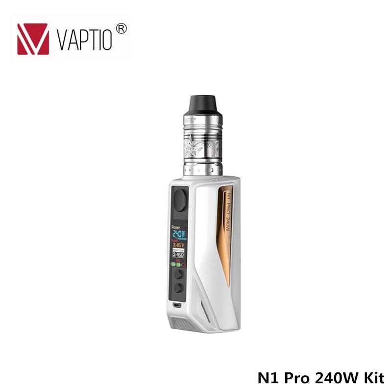 Vaptio Горячая Vape комплект N1 Pro 240 Вт KIT электронные сигареты с 2,0 мл Frogman бак 240 Вт коробка Vape Mod 510 нить 240 Вт 18650 аккумулятор