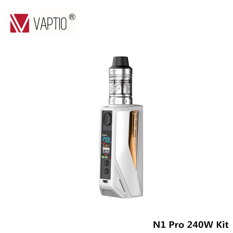 Vaptio Vape комплект N1 Pro 240 W LITE KIT электронная сигарета 2,0 мл Frogman бак 240 W Box Vape мод 510 нить 240 w 18650 аккумулятор