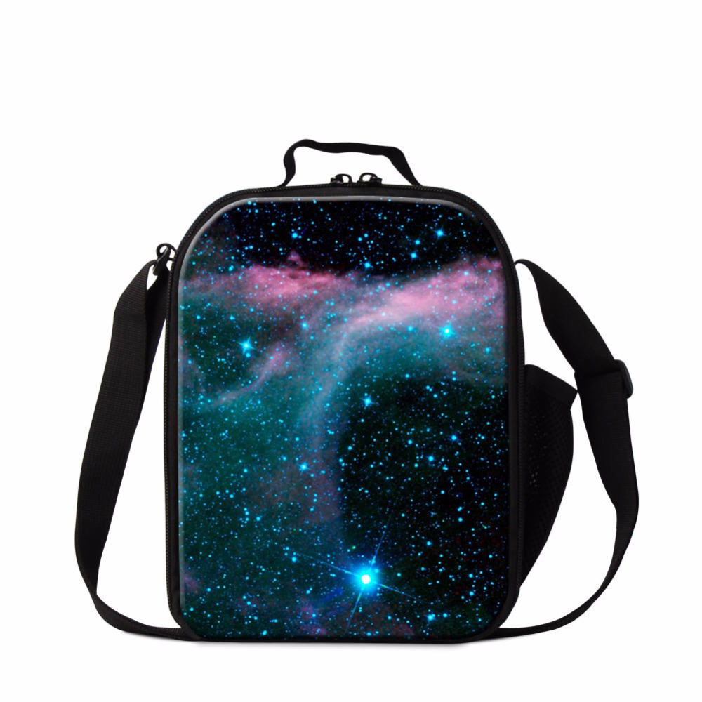 Dispalang galaxy printing lunch cooler bag for kids small insulated lunch bag thermal meal bag for children portable food bags