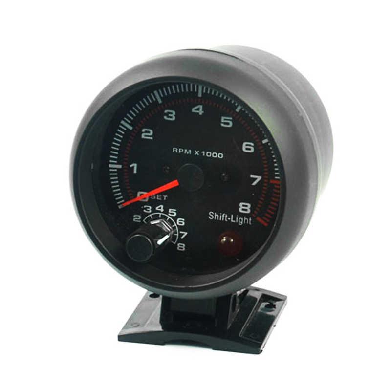 12V 3 75 Inch 8000RPM Universal Black Auto Truck Tachometer Digital  Speedometer Car Tachoscope Gauge Revolution Meter