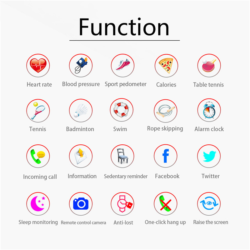 Smart Swim Watch Blood Pressure Heart Rate Monitor App Run For Apple Xiaomi Huawei PK Fenix 5/Fit 3 3
