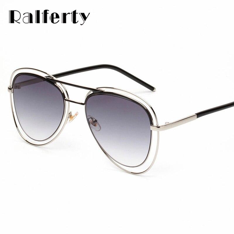 Ralferty 2017 Pilot Sunglasses Women Men Wire Frame Sun Glasses For ...