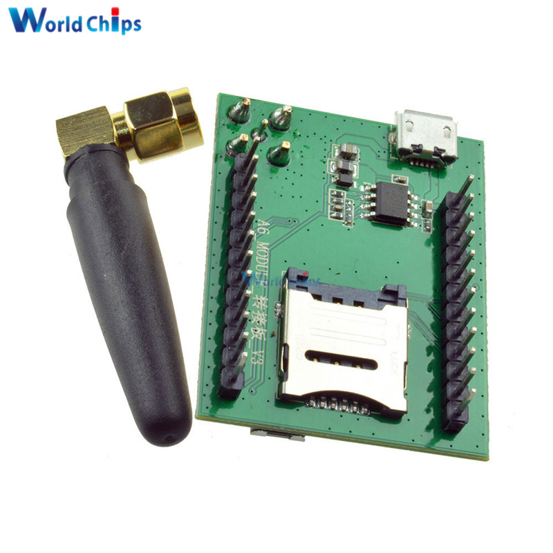 1 Pcs/Lot Smart Electronics Gsm A6 GPRS Module GSM Module A6 SMS Speech  Board Wireless Data Trans Adapter Plate